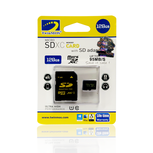 Picture of TwinMOS 128GB CL-10 MICRO SD CARD