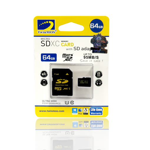 Picture of TwinMOS 64gb Micro Sd Card Cl-10