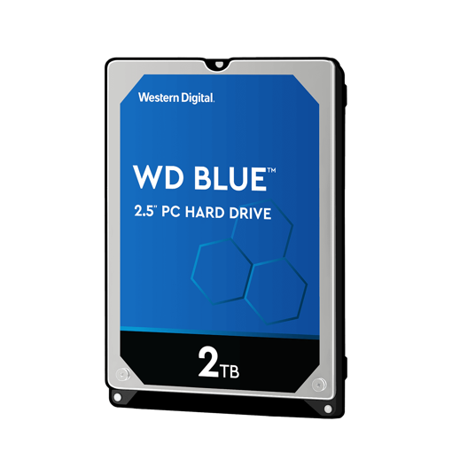 """Picture of WD 2TB INTERNAL NOTEBOOK HARD DRIVE (BLUE) 2.5""""SATA"""