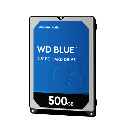 """Picture of WD 500GB INTERNAL NOTEBOOK HARD DRIVE (BLUE) 2.5"""" SATA"""