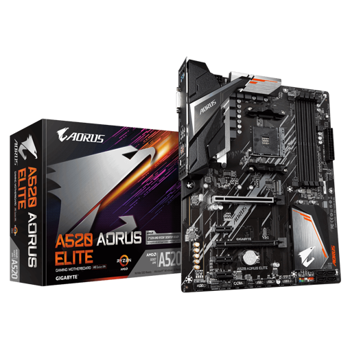Picture of Gigabyte A520 Aorus Elite AM4 ATX Gaming Motherboard