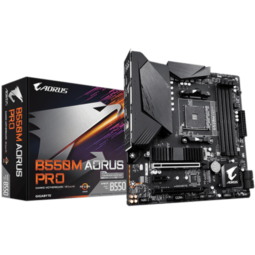 Picture of Gigabyte B550M AORUS PRO AM4 Motherboard