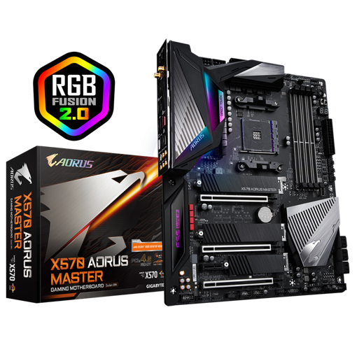 Picture of Gigabyte X570 Aorus Master ATX Gaming Motherboard