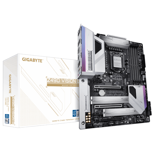 Picture of Gigabyte Intel Chipset Z490 Vision G ATX Motherboard