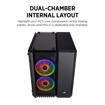 Picture of CORSAIR CASING Crystal Series 280X RGB Tempered Glass Micro ATX Black CASE # CC-9011135-WW