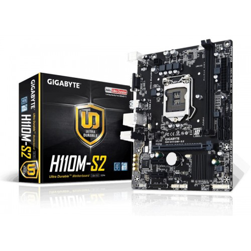 Picture of Gigabyte H110M-S2 Micro ATX Motherboard