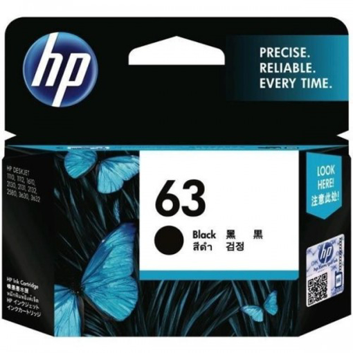 Picture of HP Cartridge 63 Black 190 Pages