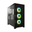 Picture of Corsair iCUE 4000X RGB Tempered Glass Mid-Tower Black Casing