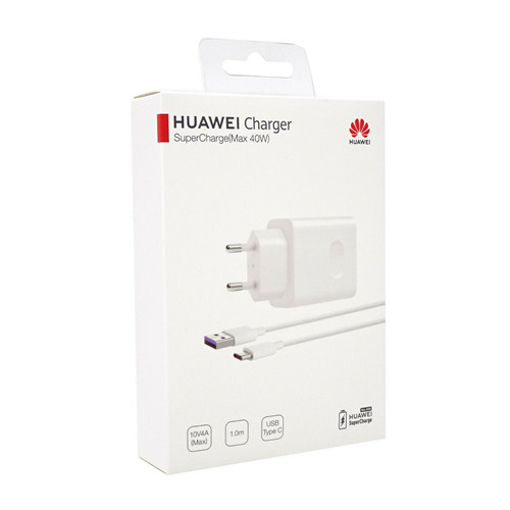 Picture of Huawei Super Charger CP84 Max 40W Adapter and Cable white