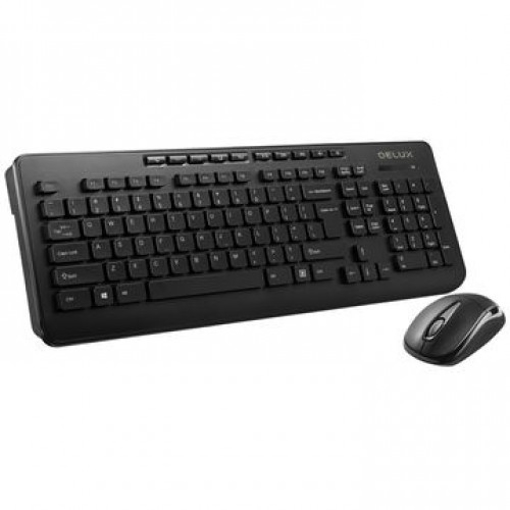 Picture of Delux Om-02u + M105gx Wireless Bengali Multimedia Keyboard & Mouse