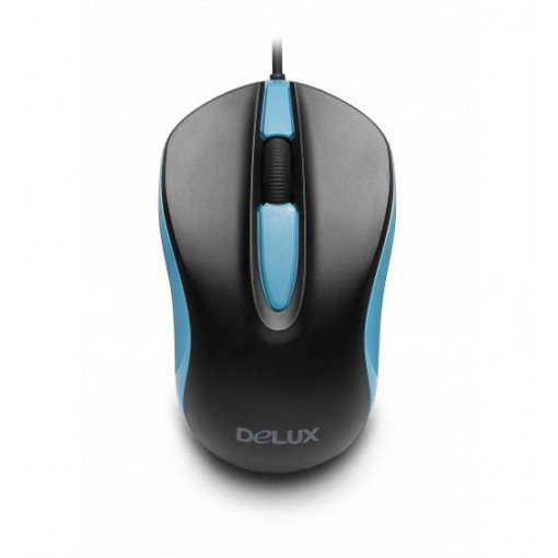 Picture of Delux DLM-137BU USB Black Blue Optical Mouse