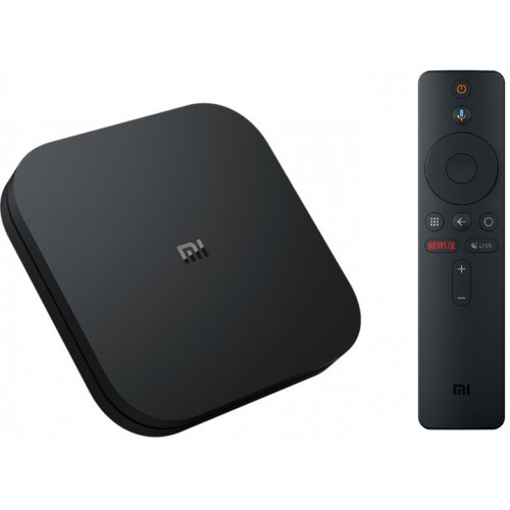 Picture of Xiaomi Mi Box S Android TV with Google Assistant Chromecast Built-In-4K HDR WiFi 8GB- Black