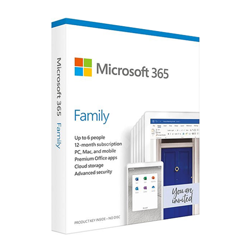 Picture of Microsoft 365 Family English APAC EM Subscription 1 Year Medialess 6 User
