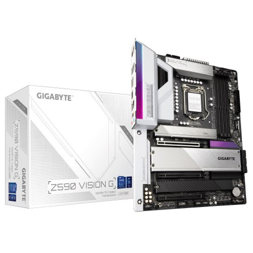 Picture of Gigabyte Z590 VISION G Intel 10th and 11th Gen ATX Motherboard