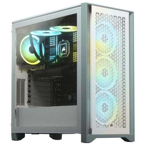 Picture of Corsair 4000D Airflow Tempered Glass Mid-Tower ATX Casing White