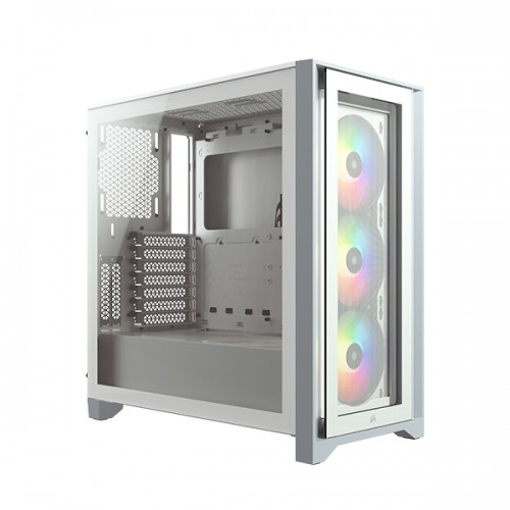 Picture of Corsair iCUE 4000X RGB Tempered Glass Mid-Tower White Casing