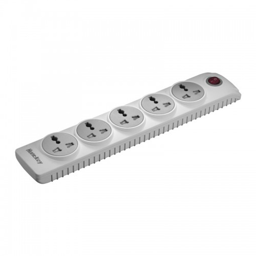 Picture of Huntkey SZN501 Five Socket 3 Pin Plug with Child Protection White Power Strip
